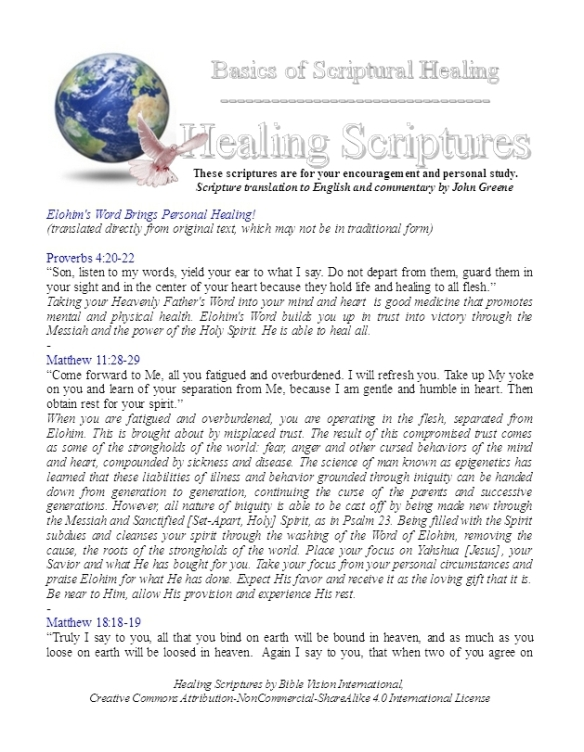 Healing Scriptures | Bible Vision Archive