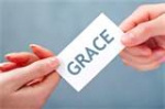giving favorably through grace