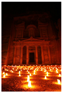 lights on petra
