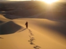 walking into the desert