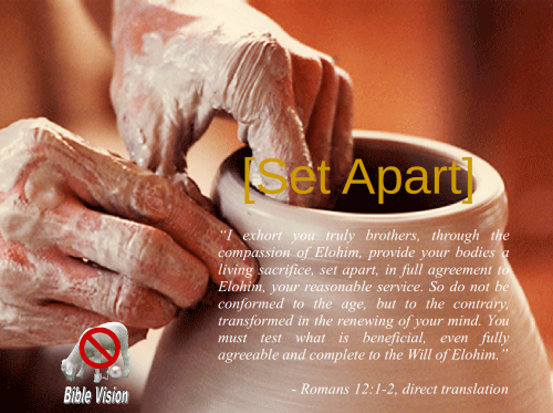 set apart purpose Romans 12 1-2a
