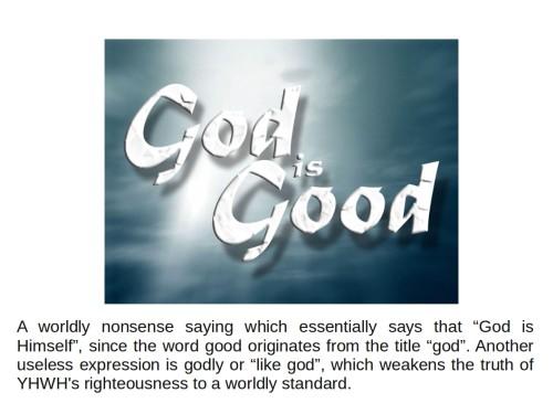 good and god