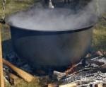 boiling in oil